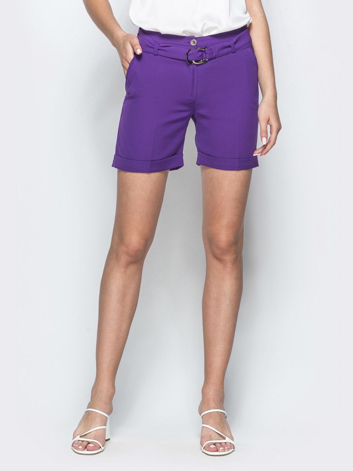 Фиолетовые шорты с карманами 39410, фото 1