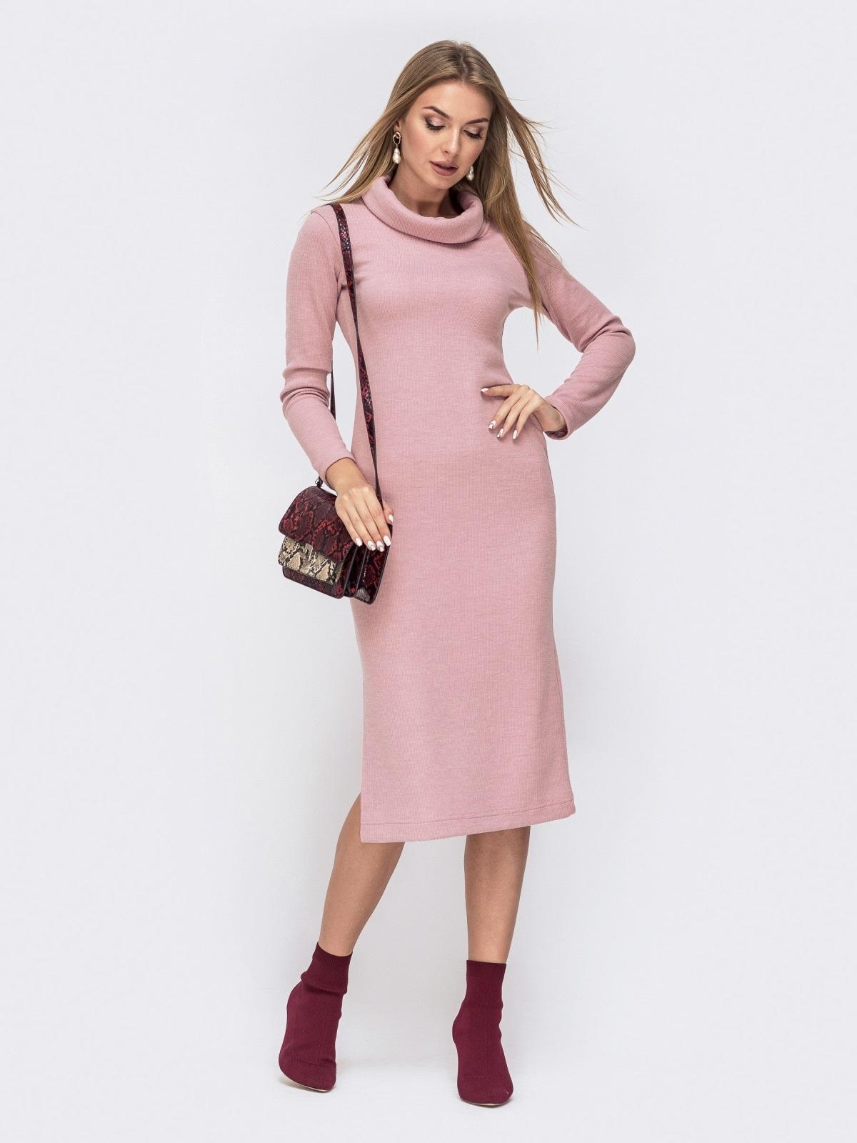 Платье с воротником-хомут и разрезами по бокам 40530, фото 1