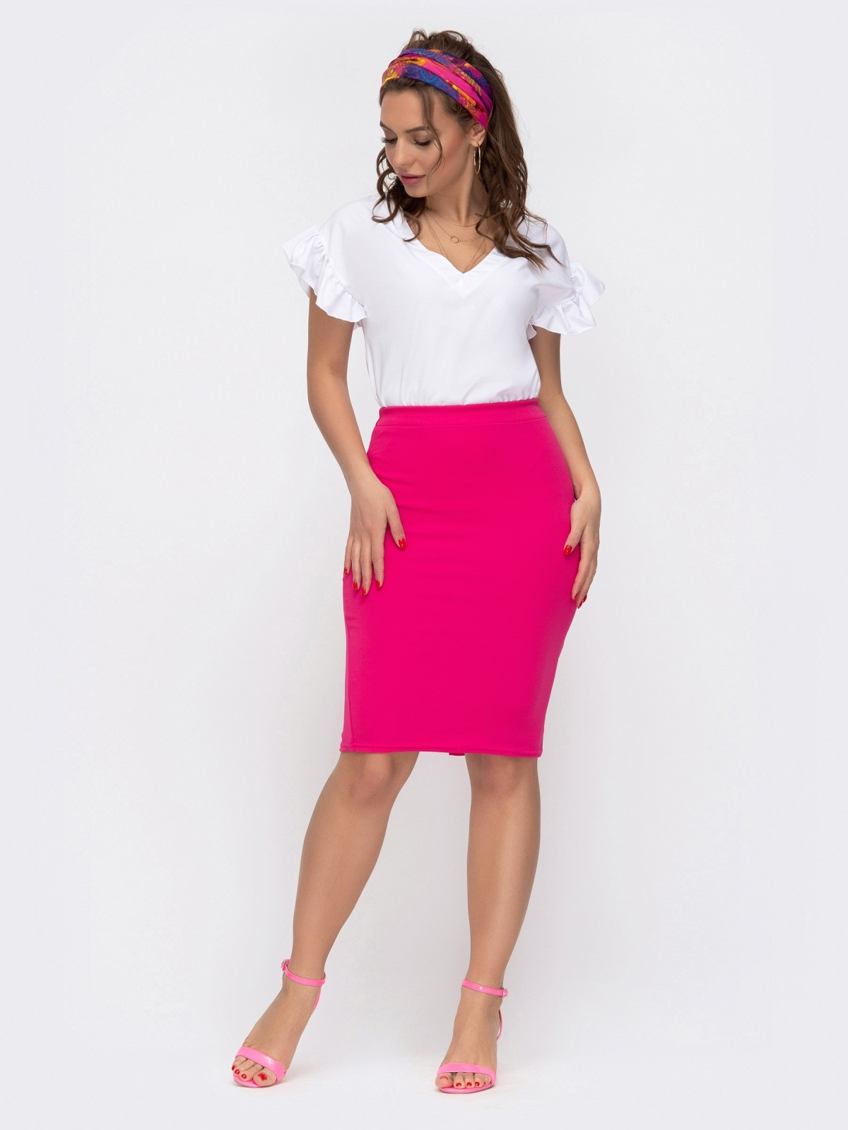 Комплект из юбки и блузки розовый 46621, фото 1