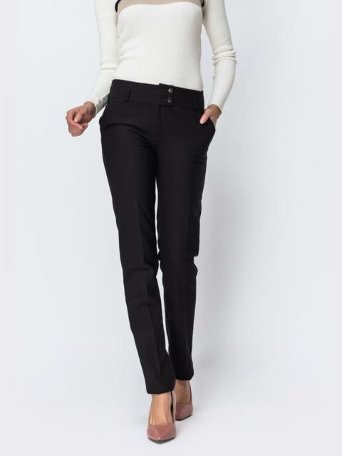 Тёплые брюки чёрного цвета на флисе 42355, фото 1