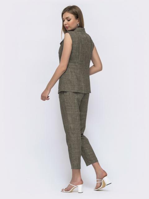 Комплект из жилета и брюк цвета хаки 49576, фото 1