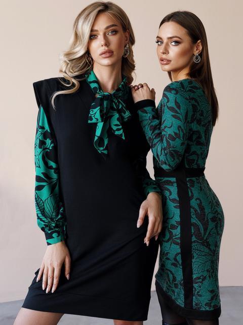 Черное платье без рукавов из двунитки 52863, фото 1