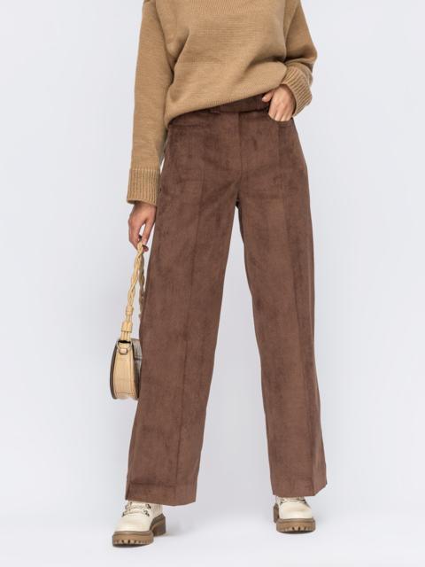 Вельветовые брюки широкого кроя со стрелками  55243, фото 1