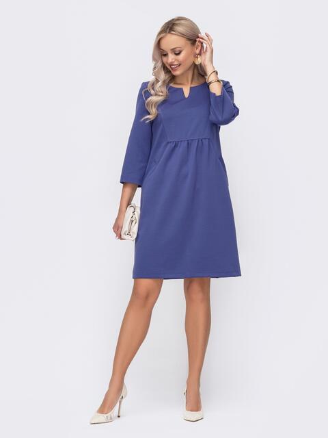 Сиреневое платье с модельной кокеткой 50821, фото 1