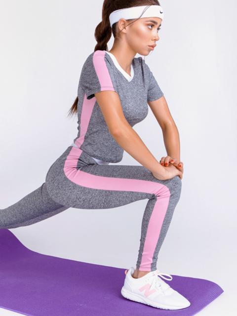 Комплект для фитнеса из и топа и лосин серый 44184, фото 1