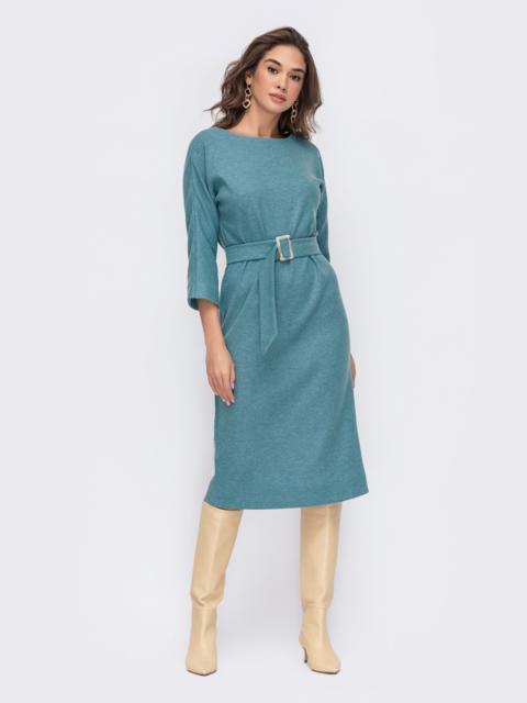 Голубое платье с V-образным вырезом по спинке 52765, фото 1