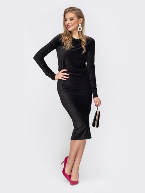 Комплект из кофты и юбки с резинкой по талии чёрный 42914, фото 1