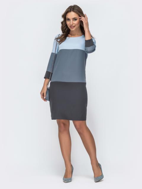 Платье прямого кроя голубое 44994, фото 1
