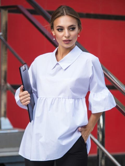Блузка свободного кроя с широкими воланами 14074, фото 1