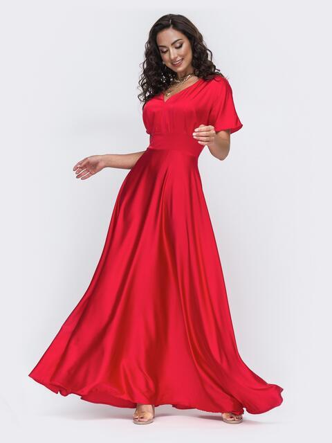 Красное платье в пол большого размера  49944, фото 1