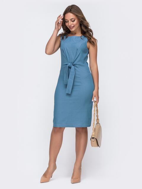 Голубое платье приталенного силуэта 47065, фото 1
