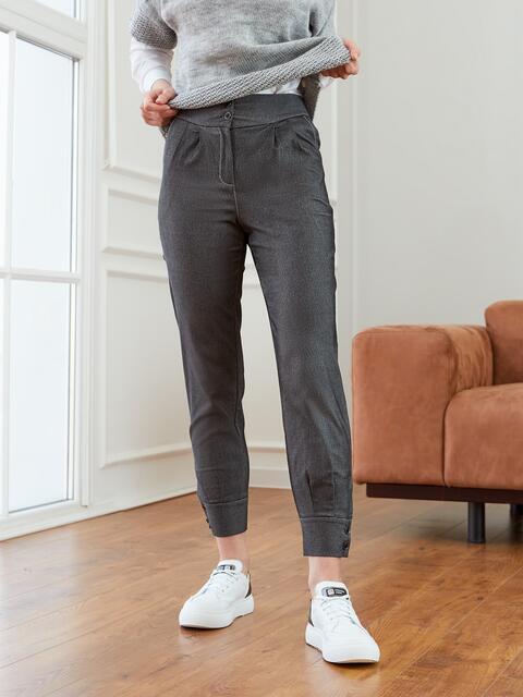 Черные брюки с высокой посадкой на молнии 53545, фото 1