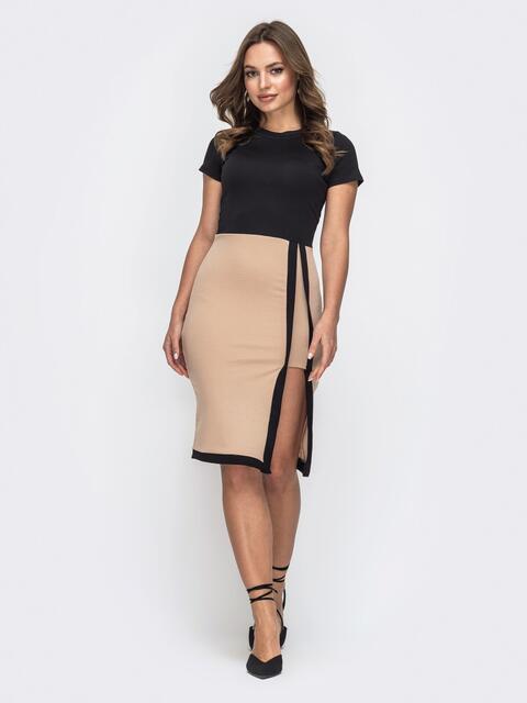 Обтягивающее платье с разрезом сбоку 45757, фото 1