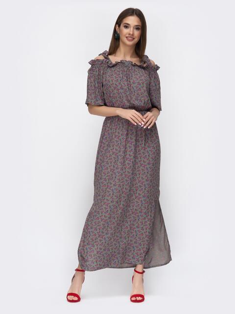 Платье-макси с флористическим принтом 45334, фото 1