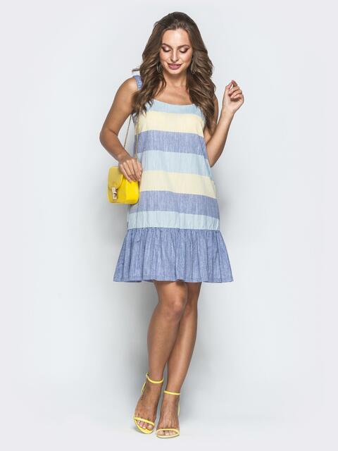 Платье в желтую полоску 39328, фото 1