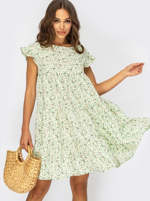 Платье-трапеция в цветочный принт 53899, фото 1