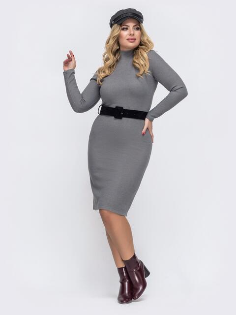 Платье-гольф большого размера серое 43261, фото 1