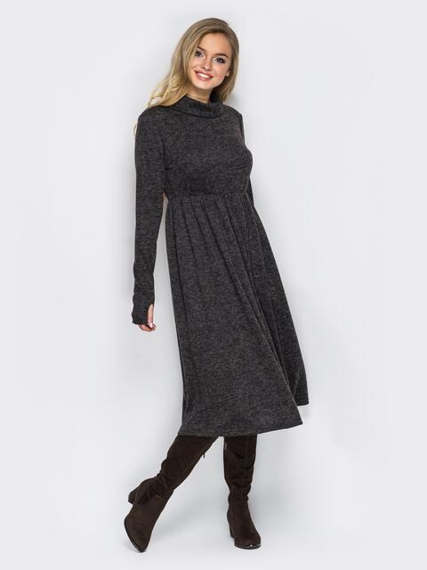 """Платье из трикотажа """"ангора"""" с расклешенным низом 16456, фото 1"""