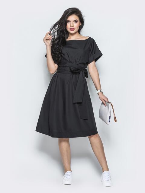 Платье свободного кроя с поясом в комплекте 12506, фото 2