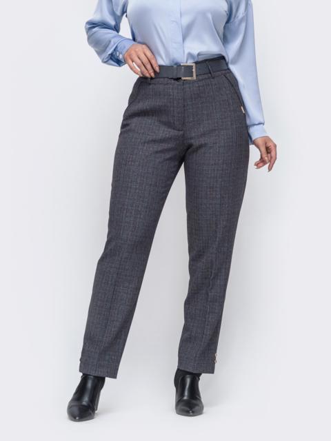Зауженные брюки большого размера серые 50914, фото 1