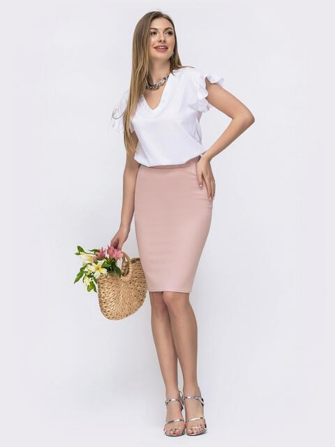 Комплект из юбки и блузки пудровый 46620, фото 1