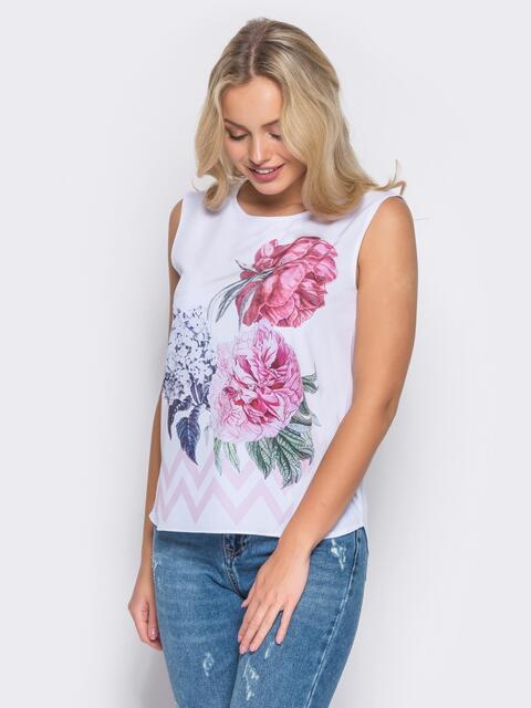 Принтованная блузка из софта 10255, фото 1