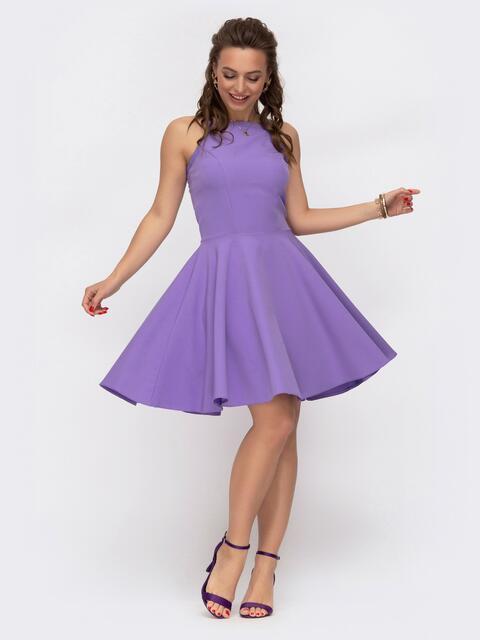 Сарафан с американской проймой и расклешенной юбкой фиолетовый 47472, фото 1