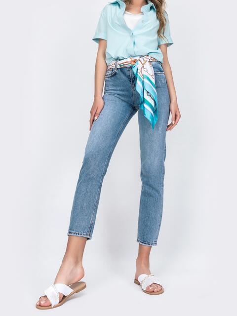 Зауженные джинсы голубого цвета 48907, фото 1
