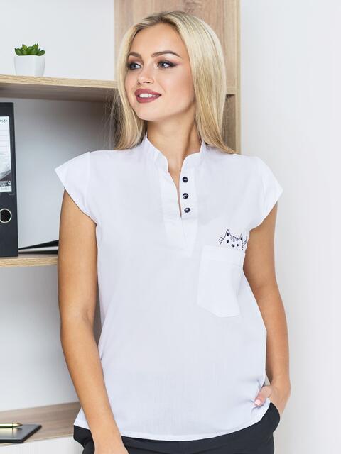 Блузка с рукавом-крылышко и карманом 14135, фото 1