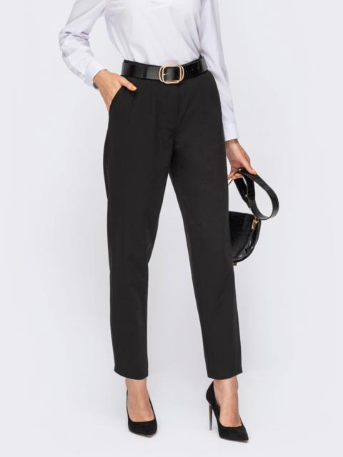 Черные классические брюки с карманами 54644, фото 1