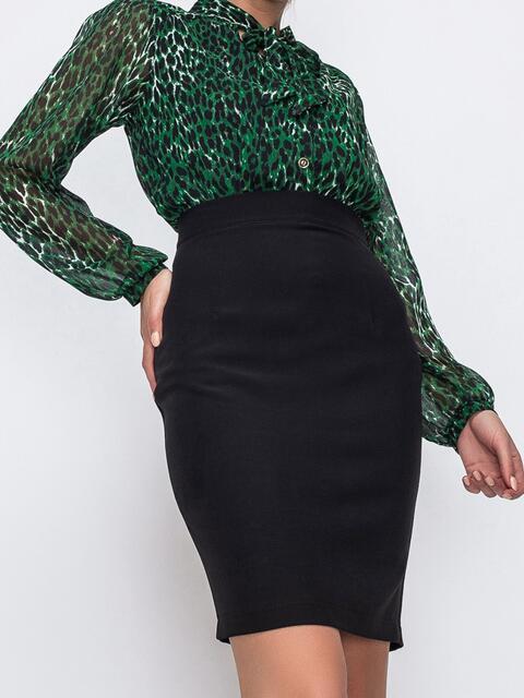 Черная юбка-мини в классическом стиле 49600, фото 1