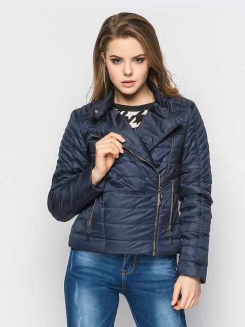 Черная куртка со смещенной молнией на полочке 12948, фото 1