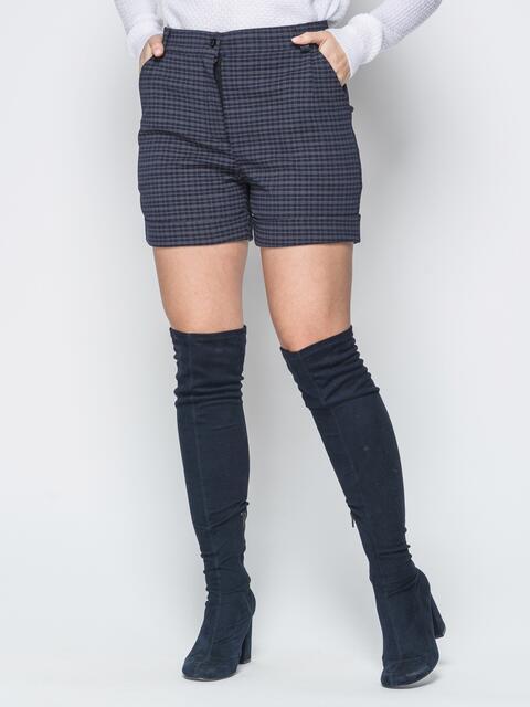Чёрные шорты с боковыми карманами и шлёвками 19424, фото 1