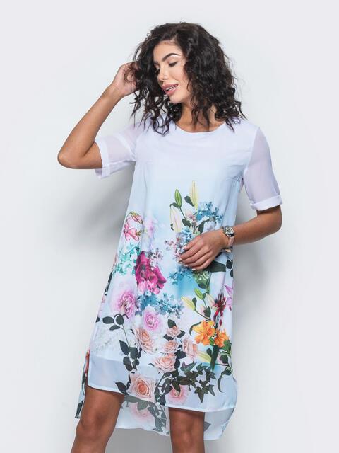 Платье из шифона с принтом 11642, фото 1