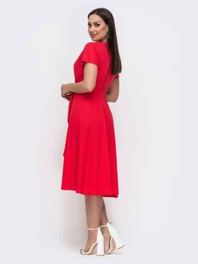 Красное платье на запах большого размера 46350, фото 3