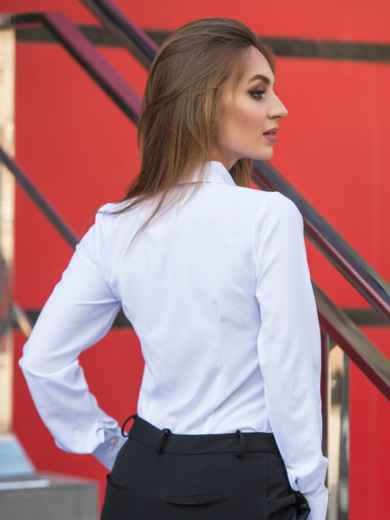Классическая блузка из софта на пуговицах 14073, фото 2