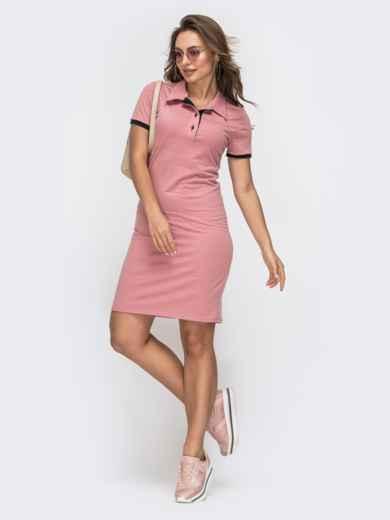 Платье-поло розового цвет 45540, фото 1