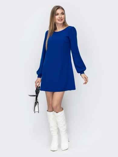 Свободное платье синего цвета 45361, фото 1