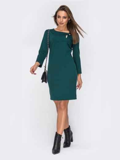 Платье приталенного кроя зеленое 42058, фото 1
