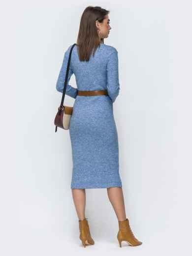 Голубое платье-миди из ангоры 44905, фото 2