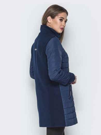 Синяя куртка с манжетами из кашемира и воротником 20231, фото 3
