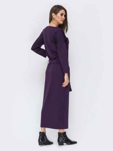 """Фиолетовое платье с рукавом """"летучая мышь"""" 44200, фото 3"""