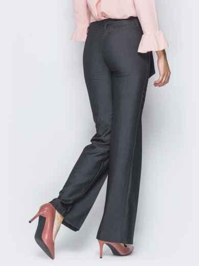 Серые брюки на молнии со встречными складками 18860, фото 3
