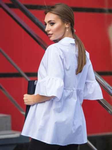 Блузка свободного кроя с широкими воланами 14074, фото 2
