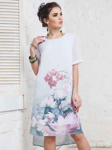 Платье из шифона с принтом 11641, фото 1