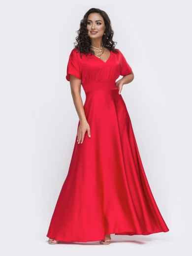 Красное платье в пол большого размера  49944, фото 2