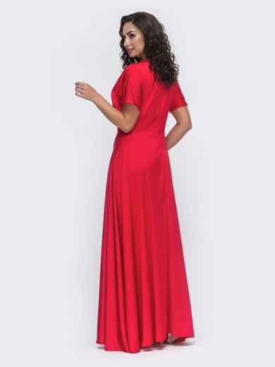 Красное платье в пол большого размера  49944, фото 3