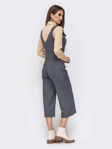 Серый комбинезон с брюками-кюлот 43079, фото 2