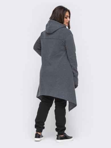 Серый комплект большого размера с асимметричной туникой 50745, фото 2