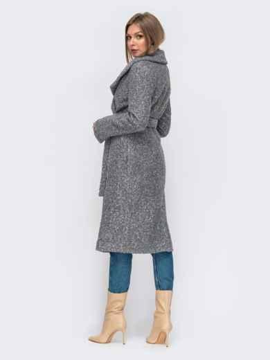 Пальто на запах серого цвета 50975, фото 2
